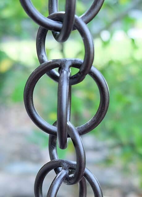Double Loops™ aluminum link chain with Bronze powdercoating
