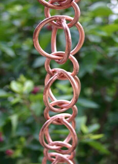 Double Loops™ copper link rain chain