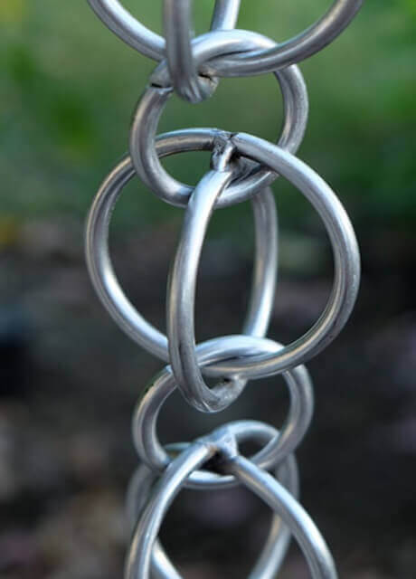 Double Loops stainless steel rain chain
