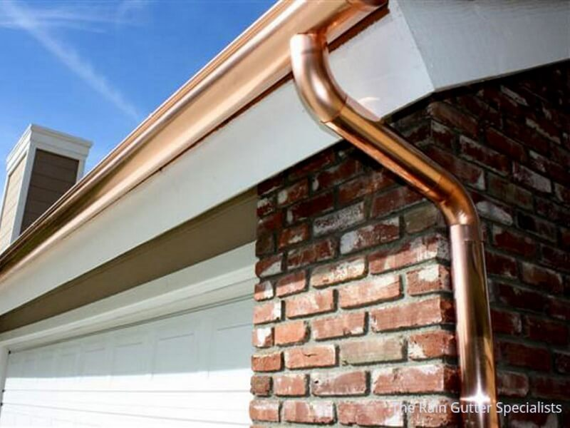 Copper rain gutters in Los Angeles image 1g