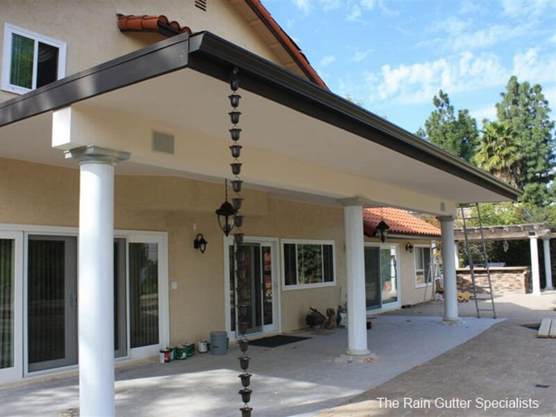 dark aluminum rain chains beverly hills