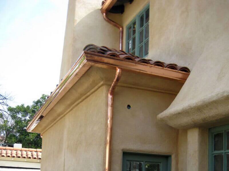 Copper rain gutters in Burbank image 20a