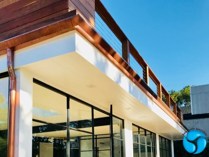 Copper Rain Gutters in Bel Air