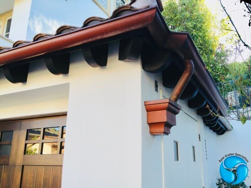Copper Rain Gutters in Cerritos