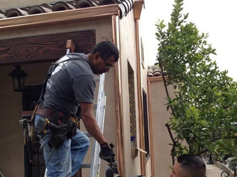 Rain Gutter Sales and Service in Covina, Gutter Installation and Replacement in Covina, Aluminum, Copper, and Seamless Gutters, Leaders, Rain Chains, Barrels, Headers, and Accessories