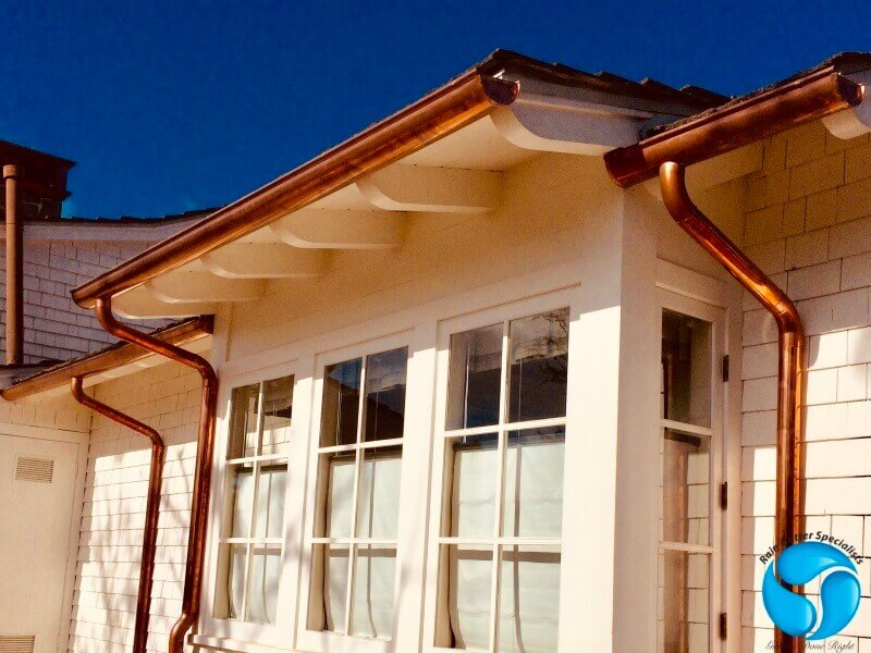 Copper Rain Gutters in La Crescenta
