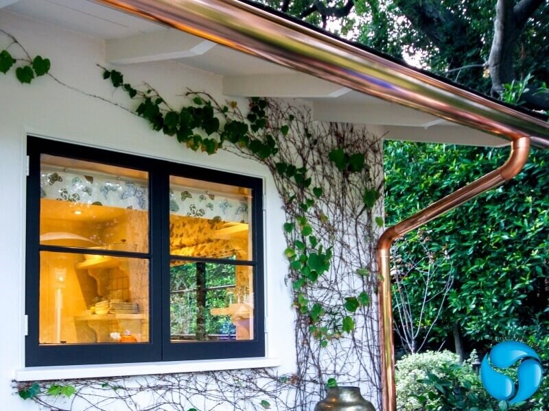 Copper Rain Gutters in Porter Ranch
