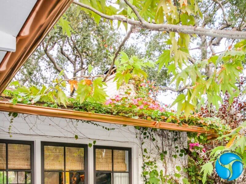 Copper Rain Gutters in Reseda