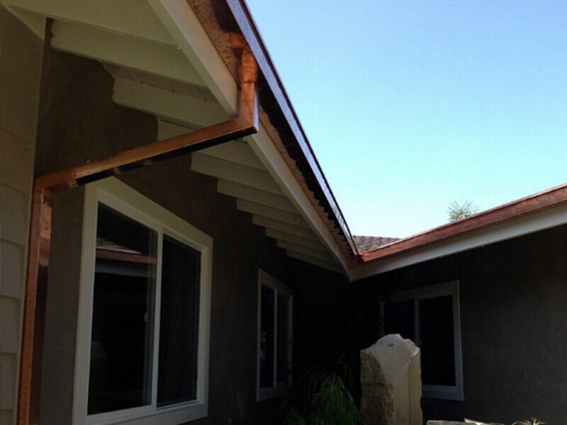 copper rain gutters south gate ca image 1a